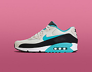 Nike airmax shoes shot on seamless