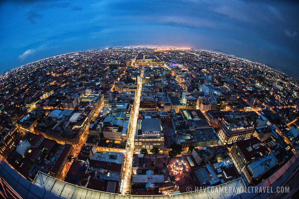 View of Mexico City from the 44th floor of the Torre Latinoamericana building.
