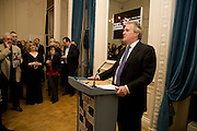 HENRY PORTER; , Vanity Fair, Baroness Helena Kennedy QC and Henry Porter launch ' The Convention on Modern Liberty'. The Foreign Press Association. Carlton House Terrace. London. 15 January 2009 *** Local Caption *** -DO NOT ARCHIVE-© Copyright Photograph by Dafydd Jones. 248 Clapham Rd. London SW9 0PZ. Tel 0207 820 0771. www.dafjones.com.<br /> HENRY PORTER; , Vanity Fair, Baroness Helena Kennedy QC and Henry Porter launch ' The Convention on Modern Liberty'. The Foreign Press Association. Carlton House Terrace. London. 15 January 2009