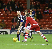 Dundee&rsquo;s Gary Harkins and Aberdeen&rsquo;s Kenny McLean - Aberdeen v Dundee, Ladbrokes Premiership at Pittodrie<br /> <br />  - &copy; David Young - www.davidyoungphoto.co.uk - email: davidyoungphoto@gmail.com