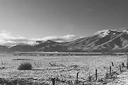 Grizzly Peak in Clouds, Mt. Hough, Fresh Snow, Indian Valley, Sierra Nevada Mountains, California farming, irrigation equipment, winter scenes