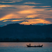 BAGAN, Myanmar (Burma) - The Ayeyarwaddy River (or Irrawaddy River) is the largest river in Myanmar. Running from north to south through the country it serves as a major transportation waterway and an important commercial path.
