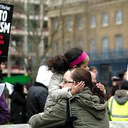 Anti Fascism Demo in Whitehall, London.
