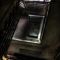 Spiral stairs in Laybourne Grange nurses accommodation block