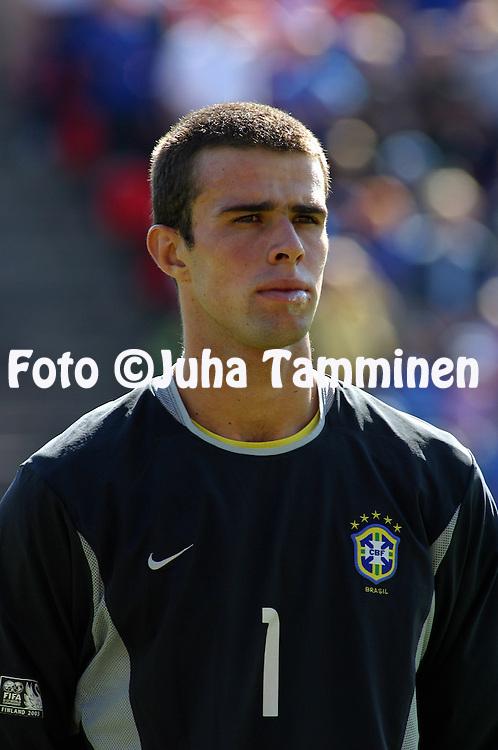17.08.2003, Ratina Stadium, Tampere, Finland.FIFA U-17 World Championship - Finland 2003.Match 13: Group C - Portugal v Brazil.Bruno - Brazil.Full name: Bruno Landgraf da Neves.©Juha Tamminen