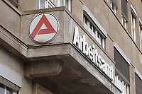 25 MAR 2003, BERLIN/GERMANY:<br /> Logo und Schriftzug Arbeitsamt Berlin Mitte, Charlottenstrasse 90<br /> IMAGE: 25032003-01-001<br /> KEYWORDS: Arbeit, work, Arbeitslosigkeit, sign