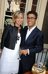 ALEX FINLAY and FABRIZIO ZAPPATERRA at the Tatler Summer Party 2006 in association with Fendi held at Home House, Portman Square, London W1 on 29th June 2006.<br />