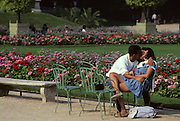 The kiss, Luxembourg Garden, Paris, France