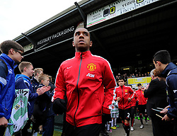 Anderson walks out at Huish Park to warm up  - Photo mandatory by-line: Joe meredith/JMP - Mobile: 07966 386802 - 04/01/2015 - SPORT - football - Yeovil - Huish Park - Yeovil Town v Manchester United - FA Cup - Third Round