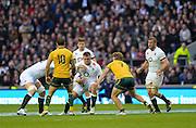 Twickenham, United Kingdom, David WILSON, during the 2013 QBE Autumn Rugby International, England vs Australia, played<br /> Saturday  02/11/2013.  RFU Stadium Twickenham,<br /> England. [Mandatory Credit: Peter Spurrier/Intersport<br /> Images]