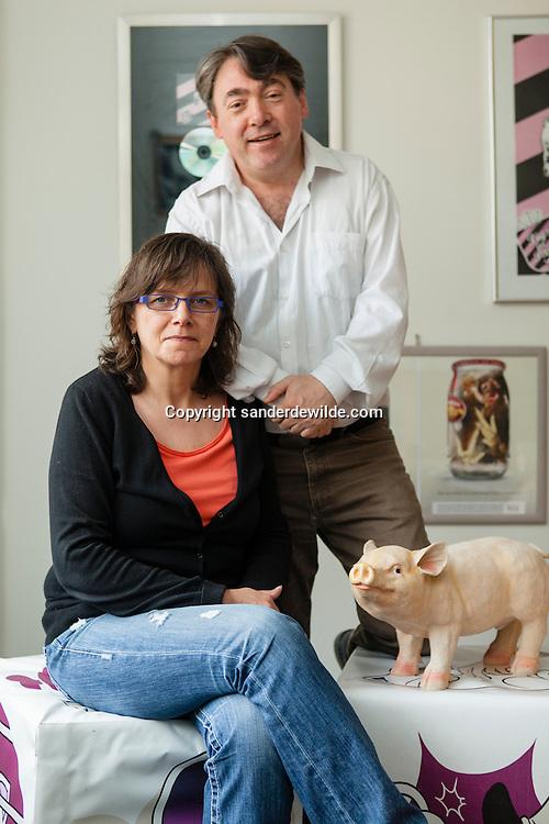 GAIA-voorzitter Michel Vandenbosch en collega Ann De Greef