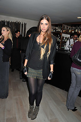 AMBER LE BON at a party to launch Senkai - London's first modern Japanese-inspired restaurant at 65 Regent Street, London on 26th October 2011.