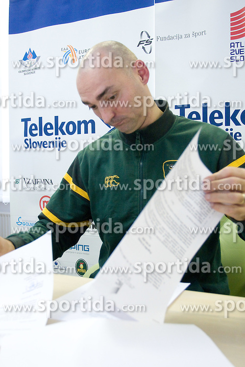 Matija Sestak when Slovenian athletes and their coaches sign contracts with Athletic federation of Slovenia for year 2009,  in AZS, Ljubljana, Slovenia, on March 2, 2009. (Photo by Vid Ponikvar / Sportida)