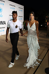 Shanina Shayk and DJ Rufus attending the UNICEF Gala red carpet in Porto Cervo, Sardinia. 10 Aug 2018 Pictured: Shanina Shayk, DJ Rufus. Photo credit: Antonello Tavera / MEGA TheMegaAgency.com +1 888 505 6342