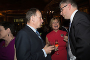 ANDREW MARR; MARY FELTON, The launch of the 1939 Register, hosted by The National Archives and Findmypast to celebrate one of the most important documents in modern British history. POMPADOUR BALLROOM, HOTEL CAFÉ ROYAL<br /> 68 Regent Street, London. 3 November 2015