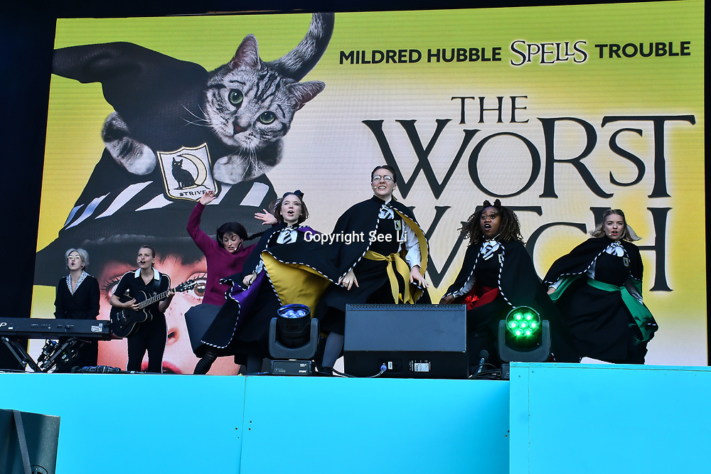 The Worst Witch performs at West End Live 2019 in Trafalgar Square, on 22 June 2019, London, UK.