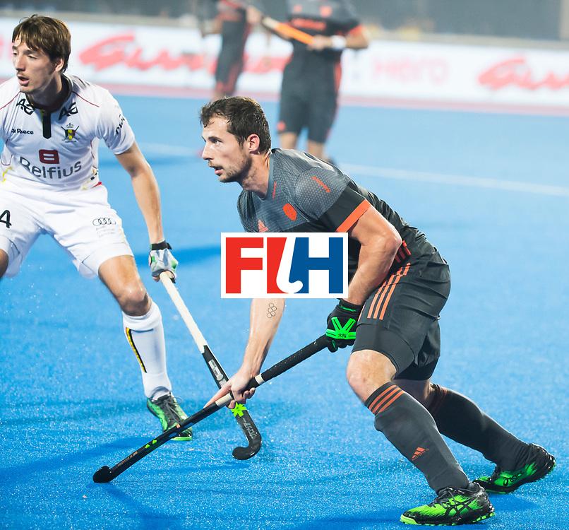 BHUBANESWAR - Sander Baart (Ned)  tijdens de Hockey World League Final wedstrijd Belgie-Nederland (3-0).   COPYRIGHT KOEN SUYK