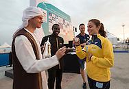VALENTE Jacqueline BRA Brazil<br /> FINA High Diving World Cup 2016<br /> Abu Dhabi Sailing and Yacht Club <br /> Corniche Breakwater -Abu Dhabi - U.A.E.<br /> Day0  26 Feb.2016<br /> Photo G.Scala/Insidefoto/Deepbluemedia
