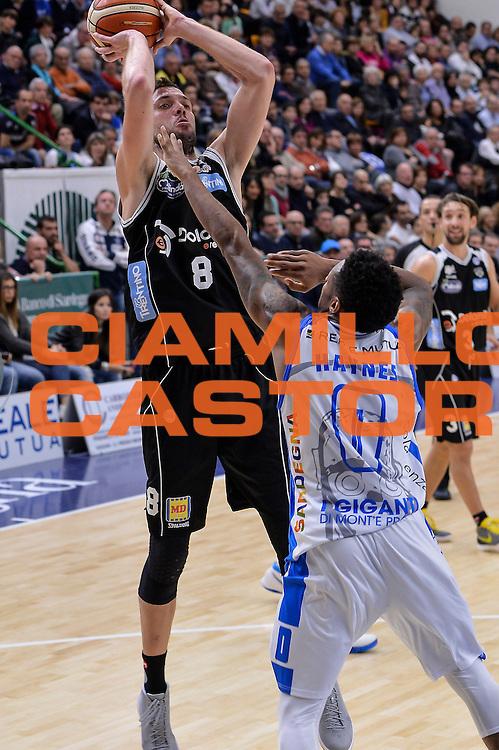 DESCRIZIONE : Campionato 2015/16 Serie A Beko Dinamo Banco di Sardegna Sassari - Dolomiti Energia Trento<br /> GIOCATORE : Filippo Baldi Rossi<br /> CATEGORIA : Tiro<br /> SQUADRA : Dolomiti Energia Trento<br /> EVENTO : LegaBasket Serie A Beko 2015/2016<br /> GARA : Dinamo Banco di Sardegna Sassari - Dolomiti Energia Trento<br /> DATA : 06/12/2015<br /> SPORT : Pallacanestro <br /> AUTORE : Agenzia Ciamillo-Castoria/L.Canu