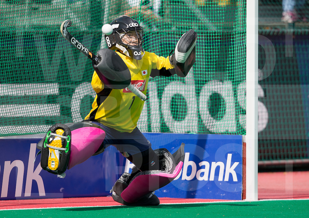 Hockey Womens World league Semi Finals Rotterdam 2013<br /> Japan v Korea 16062013<br /> Japananese goal keeper Yuka Yoshikawa<br /> <br /> Photo: Grant Treeby / treebyimages