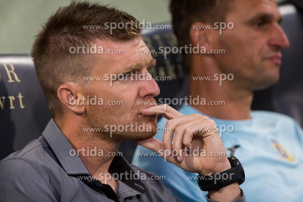 Simon Rozman of NK Domzale during football match between NK Maribor and NK Domzale in 5th Round of Prva liga Telekom Slovenije 2017/18, on August 11, 2017 in Ljudski vrt, Maribor, Slovenia. Photo by Ziga Zupan / Sportida