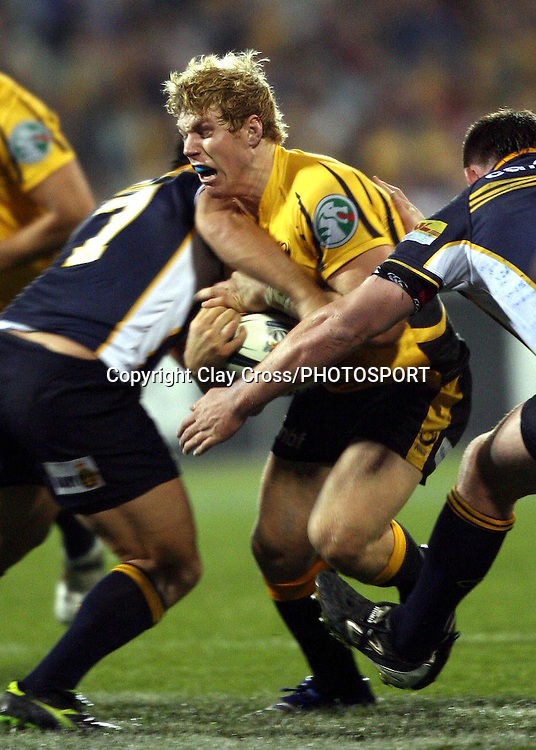 Force flanker David Pocock during the Super 14 rugby union match between the Brumbies and the Force at Canberra Stadium, ACT, Australia Friday 20 April 2007. The Brumbies defeated the Force 14-12. Photo: Clay Cross/PHOTOSPORT