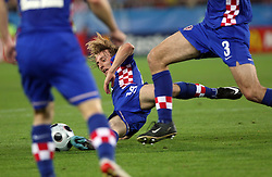 Luka Modric of Croatia during the UEFA EURO 2008 Quarter-Final soccer match between Croatia and Turkey at Ernst-Happel Stadium, on June 20,2008, in Wien, Austria. Turkey won after penalty shots. (Photo by Vid Ponikvar / Sportal Images)