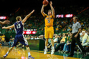 WACO, TX - JANUARY 11: Brady Heslip #5 of the Baylor Bears shoots a three-pointer against the TCU Horned Frogs on January 11, 2014 at the Ferrell Center in Waco, Texas.  (Photo by Cooper Neill/Getty Images) *** Local Caption *** Brady Heslip