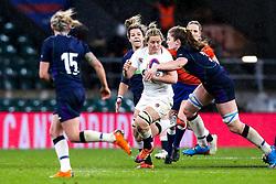 Marlie Packer of England Women is tackled - Mandatory by-line: Robbie Stephenson/JMP - 16/03/2019 - RUGBY - Twickenham Stadium - London, England - England Women v Scotland Women - Women's Six Nations
