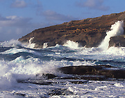 Waves, East Coast, Oahu, Hawaii<br />