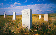 1100-1010 ~ Copyright: George H. H. Huey ~ Garve markers, Capt. Myles Keogh's Company I,  killed by charge led by Lakota warrior Crazy horse, June 25, 1876, where the U.S. 7th Cavalry was defeated by Lakota, Cheyenne and Arapaho Indians.  Little Bighorn Battlefield National Monument., Montanna.