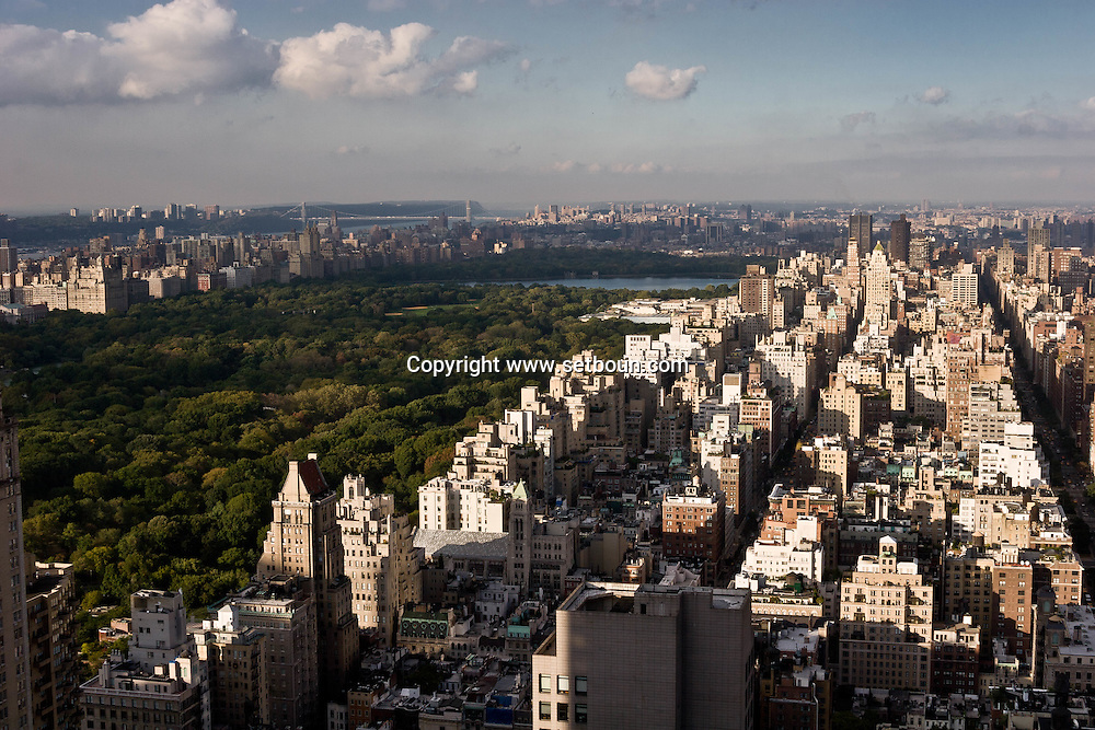 New York. elevated view on Central park and the upper east side   New York - United states  / central park et manhattan north east vue aerienne  New York - Etats-unis