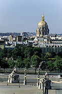 France. Paris. elevated view.The Concorde place and the Invalides, view from the hotel  le Crillon