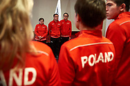 Warsaw, Poland - 2017 March 12: Special Olympics Athletes while Nomination Ceremony of Special Olympics Polish National Team before the Special Olympics World Winter Games Austria  2017 at Marriott Hotel on March 12, 2017 in Warsaw, Poland.<br /> <br /> Mandatory credit:<br /> Photo by © Adam Nurkiewicz / Mediasport<br /> <br /> Adam Nurkiewicz declares that he has no rights to the image of people at the photographs of his authorship.<br /> <br /> Picture also available in RAW (NEF) or TIFF format on special request.<br /> <br /> Any editorial, commercial or promotional use requires written permission from the author of image.<br /> <br /> Image can be used in the press when the method of use and the signature does not hurt people on the picture.