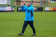 Forest Green Rovers assistant manager, Scott Lindsey during the Vanarama National League match between Forest Green Rovers and Chester FC at the New Lawn, Forest Green, United Kingdom on 14 April 2017. Photo by Shane Healey.