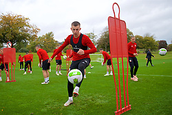 CARDIFF, WALES - Saturday, October 13, 2018: Wales' Ben Woodburn during a training session at the Vale Resort ahead of the UEFA Nations League Group Stage League B Group 4 match between Republic of Ireland and Wales. (Pic by David Rawcliffe/Propaganda)