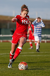 Megan Alexander of Bristol City Women in action - Mandatory byline: Rogan Thomson/JMP - 14/02/2016 - FOOTBALL - Stoke Gifford Stadium - Bristol, England - Bristol City Women v Queens Park Rangers Ladies - SSE Women's FA Cup Third Round Proper.
