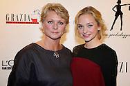 AMSTERDAM - In Hotel The Grand hield Grazia hun jaarlijkse 'Grazia Red Carpet Awards'. Met hier op de foto  Pip Pellens met haar moeder Myra Pellens-Schmidt. FOTO LEVIN DEN BOER - PERSFOTO.NU