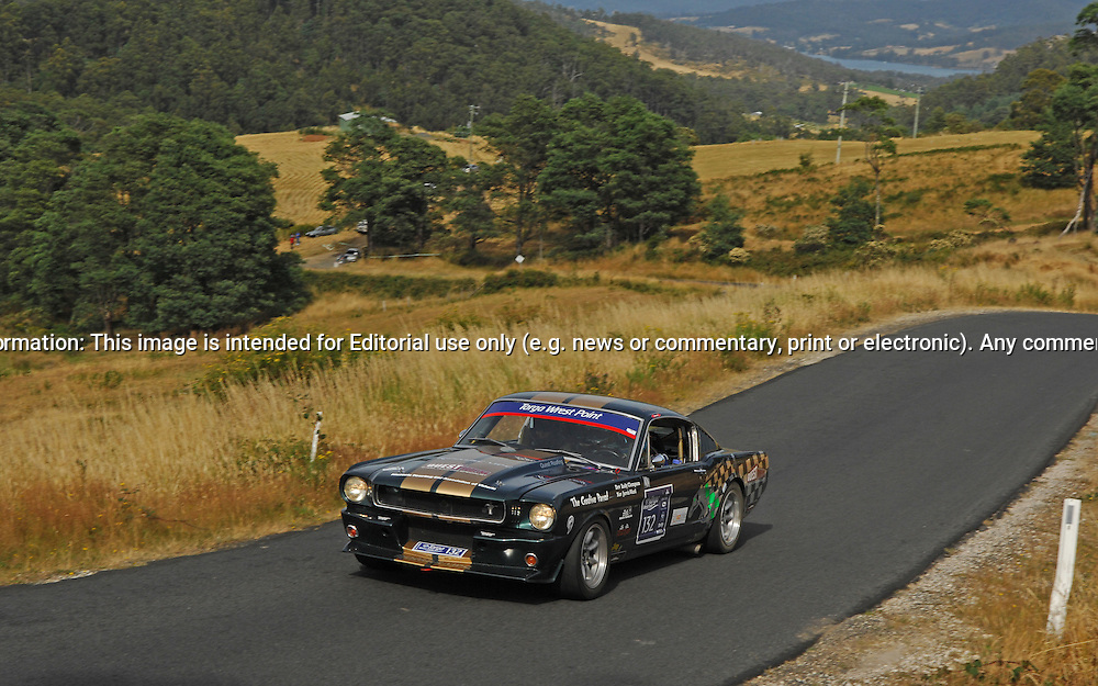 132 Andy Clempson & Jervis Ward..1965 Ford Mustang.Day 2.Targa Wrest Point 2010.Southern Tasmania.31st of January 2010.(C) Joel Strickland Photographics.Use information: This image is intended for Editorial use only (e.g. news or commentary, print or electronic). Any commercial or promotional use requires additional clearance.