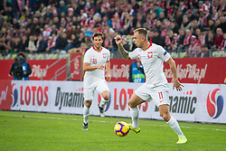 November 15, 2018 - Gdansk, Pomorze, Poland - Bartosz Bereszynski (18) Kamil Grosicki (11) during the international friendly soccer match between Poland and Czech Republic at Energa Stadium in Gdansk, Poland on 15 November 2018  (Credit Image: © Mateusz Wlodarczyk/NurPhoto via ZUMA Press)