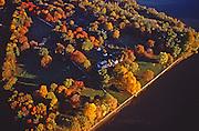 Pennsbury Manor and Delaware River Aerial, Philadelphia, PA