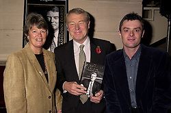 Left to right, MR & MRS PADDY ASHDOWN MP he is the former leader of the Liberal Democrats and their son MR SIMON ASHDOWN, at a party in London on 1st November 2000.OIR 5