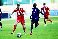Fotball , 18. juli 2014 , Eliteserien , Tippeligaen<br /> Stabæk - Brann 1-1<br /> Enock Kofi Adu , Stabæk<br /> Erik Huseklepp  , Brann