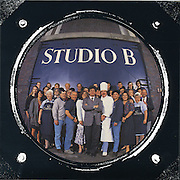 Capital Studios personnel assemble for group promotional brochure photograph in Wandsworth <br /> <br /> Tel 0044(0)208 944 6933<br /> www.linkphotographers.com Photography by Orde Eliason