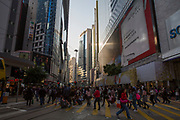Pedestrians crossing Hennessy Road, Causeway Bay, Hong Kong.  (photo by Andrew Aitchison / In pictures via Getty Images)