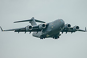 Royal Airforce C-17A Globemaster III on it's  final approach at RAF Mildenhall on 10 June 2020.