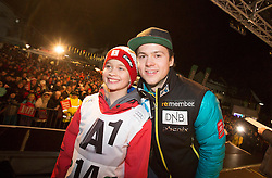 26.01.2015, Planai, Schladming, AUT, FIS Skiweltcup Alpin, Schladming, Startnummernauslosung, im Bild Sebastian Foss-Solevaag (NOR) // Sebastian Foss-Solevaag (NOR) during the drawing of the starting numbers for the men's slalom of Schladming FIS Ski Alpine World Cup at the Planai Course in Schladming, Austria on 2015/01/26, EXPA Pictures © 2015, PhotoCredit: EXPA/ Erwin Scheriau