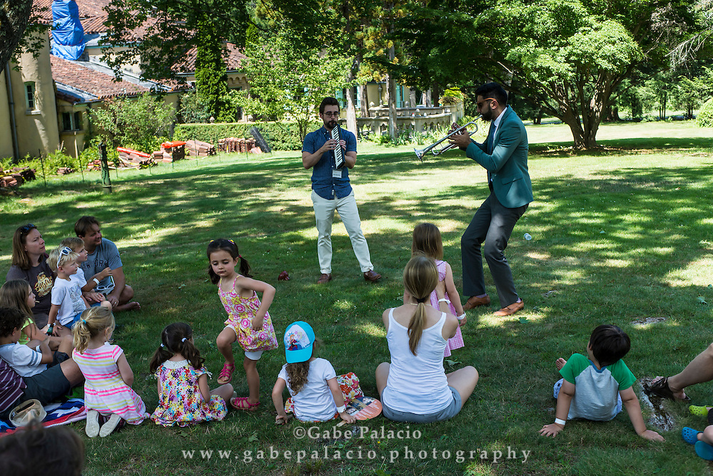 Riffin with Riley!, Led by Riley Mulherkar, performing at the East Lawn during the Jazz Festival, Presented in Collaboration with Jazz at Lincoln Center, at Caramoor in Katonah New York on July 23, 2016. <br /> (photo by Gabe Palacio)