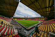 General view inside the Vicarage Road stadium ahead of the Premier League match between Watford and Bournemouth at Vicarage Road, Watford, England on 26 October 2019.