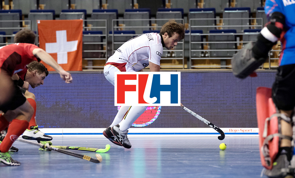 BERLIN - Indoor Hockey World Cup<br /> Men: Switzerland - Belgium<br /> foto: PLENNEVAUX Maxime.<br /> WORLDSPORTPICS COPYRIGHT FRANK UIJLENBROEK